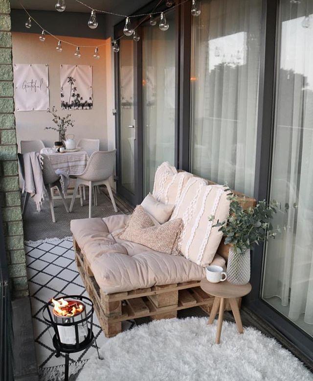 Wir brauchen nicht viel Platz, um einen gemütlichen Balkon zu verlassen … Sch …   – Dekoration