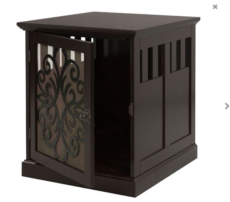 Pet Crate End Table Small Dog House Indoor Furniture Shelter Cage Cat Bed Wood