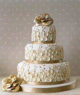 Pastel de boda retro