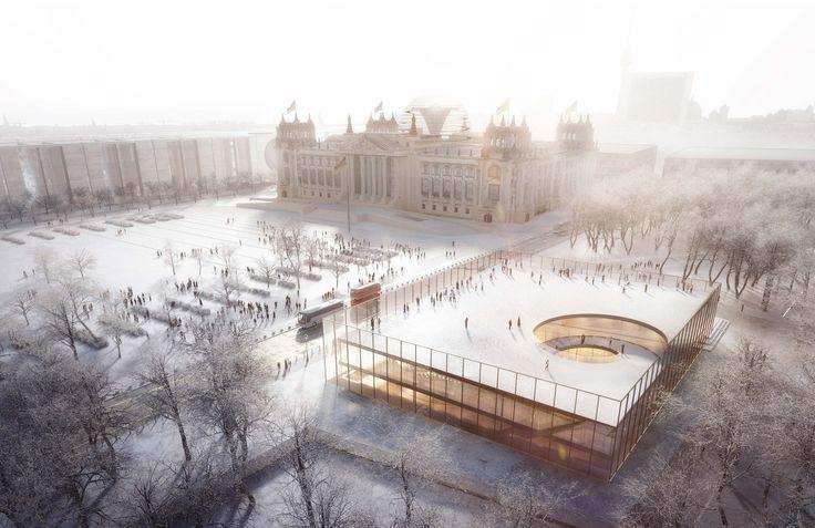 Besucherzentrum des Bundestags in Berlin - Wettbewerbs-Ausstellung und alle Arbeiten der 2. Phase
