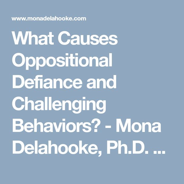 What Causes Oppositional Defiance and Challenging Behaviors? - Mona Delahooke, Ph.D. - Pediatric Psychologist - California