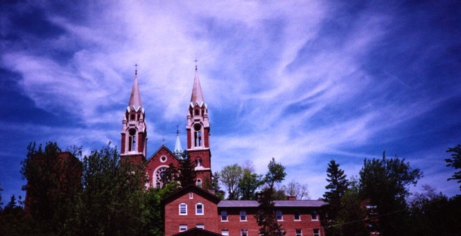 Holy Hill, Wisconsin..My Uncle and Aunts Home was at the foot of this Church.  Great memories from my childhood.  Keeping them close.
