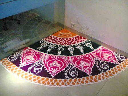 Best Corner #Rangoli Designs