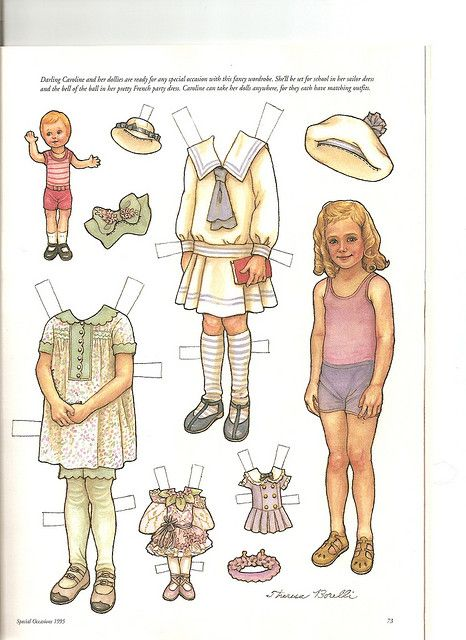 All sizes   Sew Beautiful paper doll Caroline 1   Flickr - Photo Sharing!