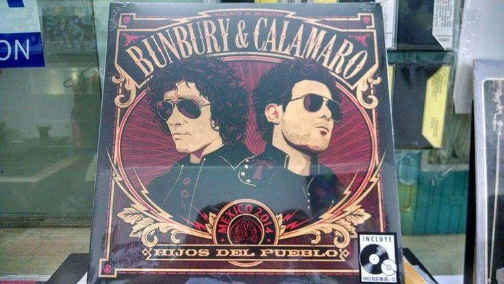 Bunbury & Calamaro -Hijos del pueblo  Vinilo + cd 149soles y solo en @DiscosE