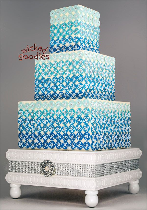 how to decorate a square wedding cake with fondant three tier square wedding cake frosted with smooth 15654