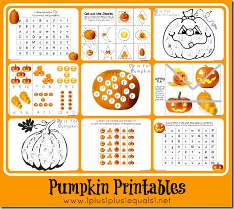 pumpkin theme printables tot preschool kindergarten - Printing Activities For Preschoolers