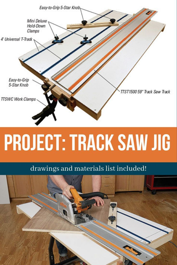 Project Track Saw Jig Woodworking Woodworking Tips Woodworking Table Saw