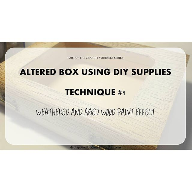 Hope you can join me for the first of a brand new 'Craft It Yourself' series https://debbipowelldesigns.wordpress.com/2015/08/28/craft-it-yourself-series-altered-box-paint-effect/