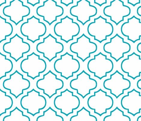 Moorish Tile - Peacock fabric by honey