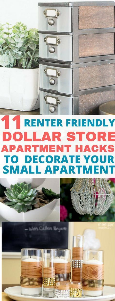 11 Easy Dollar Store DIY Craft Projects to Decorate Your Apartment on a Budget