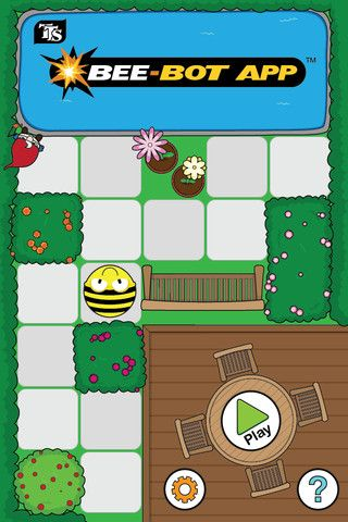 Bee-Bot app - based on the Bee-Bot floor robot. Great for directional language and programming