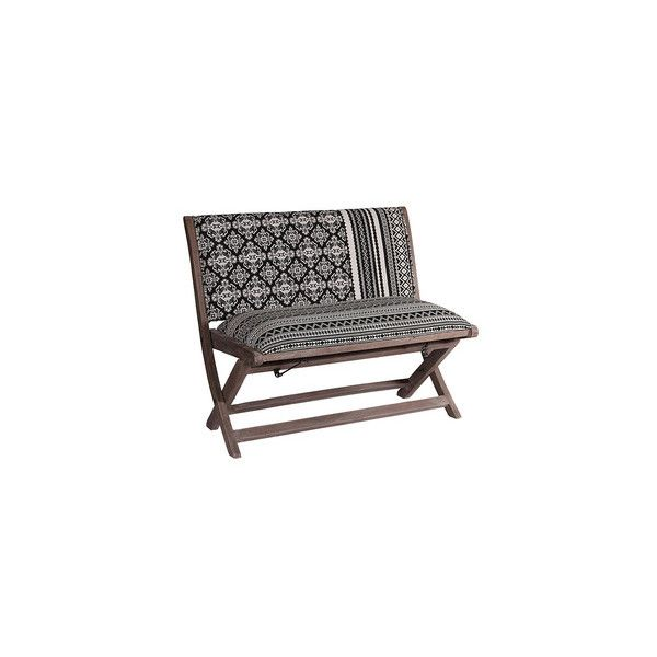 Sheesham Jacquard Folding Bench (125 CAD) ❤ liked on Polyvore featuring home, furniture, benches, sheesham furniture, mobile home furniture and sheesham wood furniture