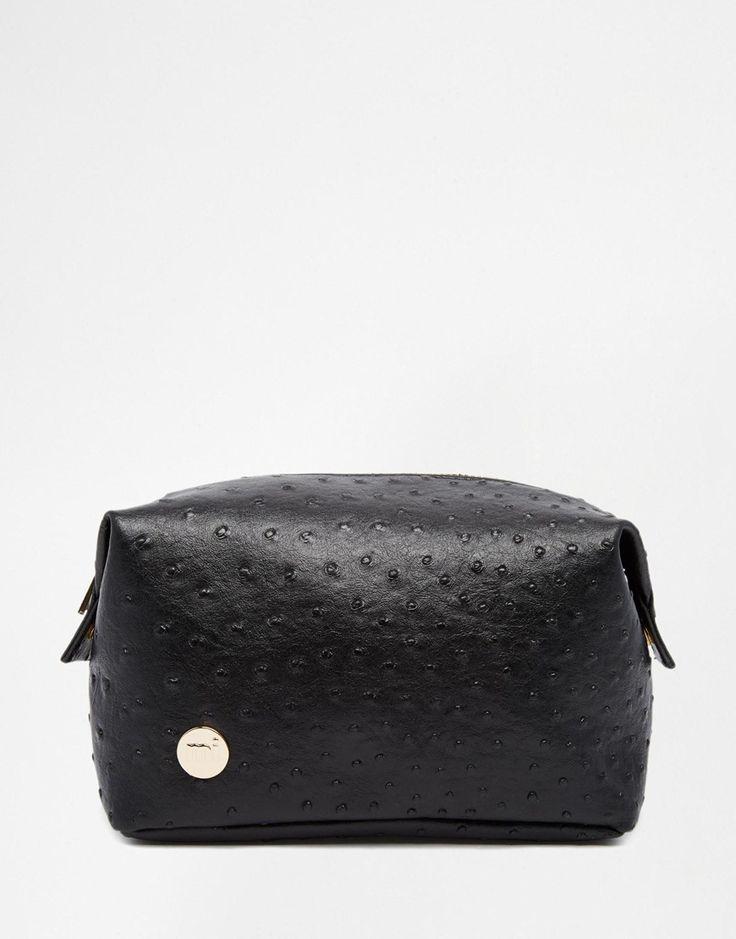 Mi-Pac+Ostrich+Black+Make+Up+Bag