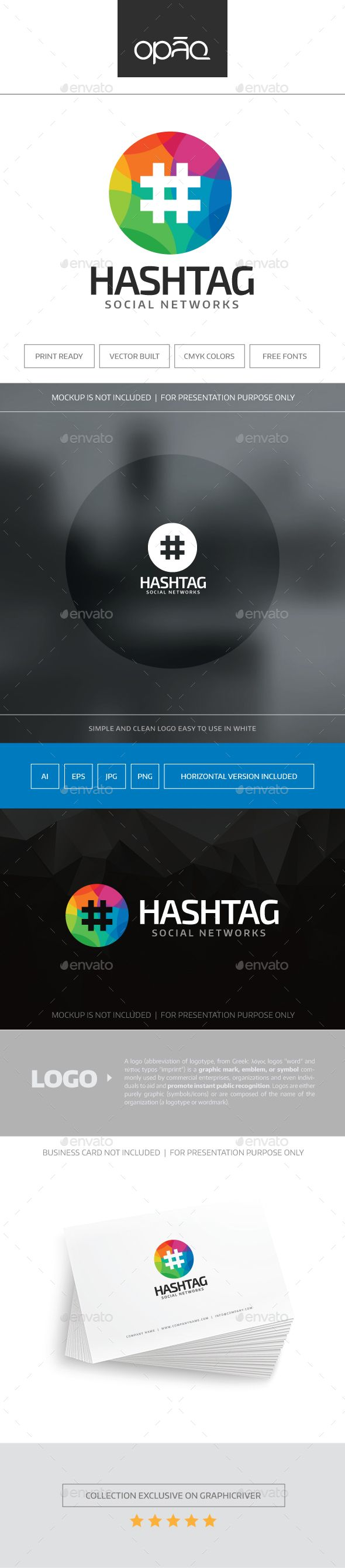 Hashtag Logo — Transparent PNG #abstract #coding • Available here → https://graphicriver.net/item/hashtag-logo/17441046?ref=pxcr