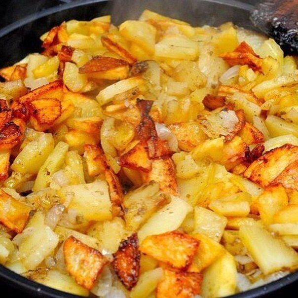 Жарим картошку правильно  Вкусные привычки
