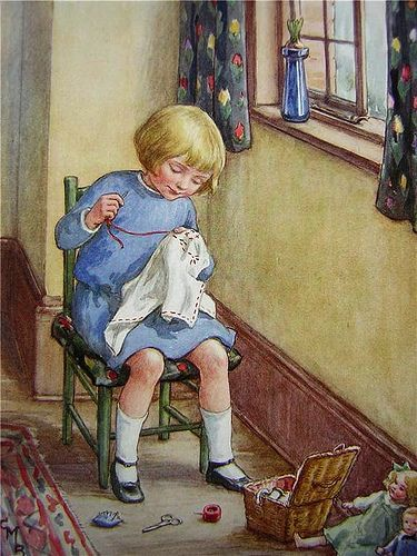 Cicely Mary Barker - Sewing: