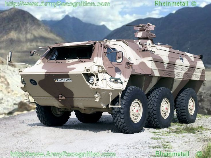 Tactical Armored Vehicles | German Army Bundeswehr Rheinmetall Fuchs 1A8 wheeled armoured vehicle ...