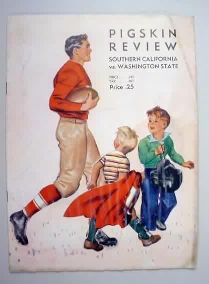 Program for the 1939 college football game featuring USC vs Washington State.