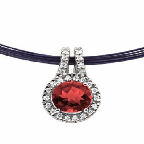 Platinum Oval Cut Mozambique Garnet and Diamond Pendant Gems-is-Me. $1611.31. Also available for other size gemstones.. This item will be gift wrapped in a beautiful gift bag. In addition, a 'gift message' can be added.. FREE PRIORITY SHIPPING. Save 40% Off!