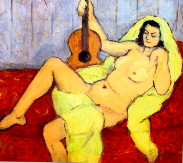 TICMUSart: Nude with Guitar - Theodor Pallady (I.M.)