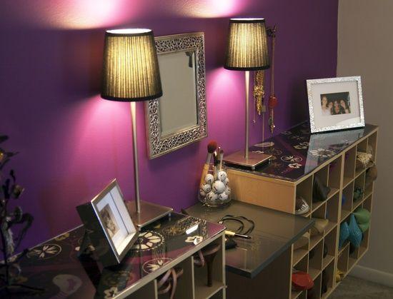 DIY Shoe Storage & Vanity. Want this someday!!!
