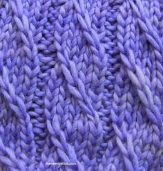 Twilled Stripe Stitch - I like this... all the beauty of a cable, none of the double pointed extra needles.