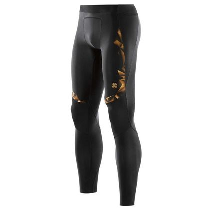 Health Goth // Rebel Sport / Skins A400 Men's Gold Compression Long Tights