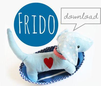Kostenloser Download Schnittmuster und Anleitung für Kuscheltier Hund Frido