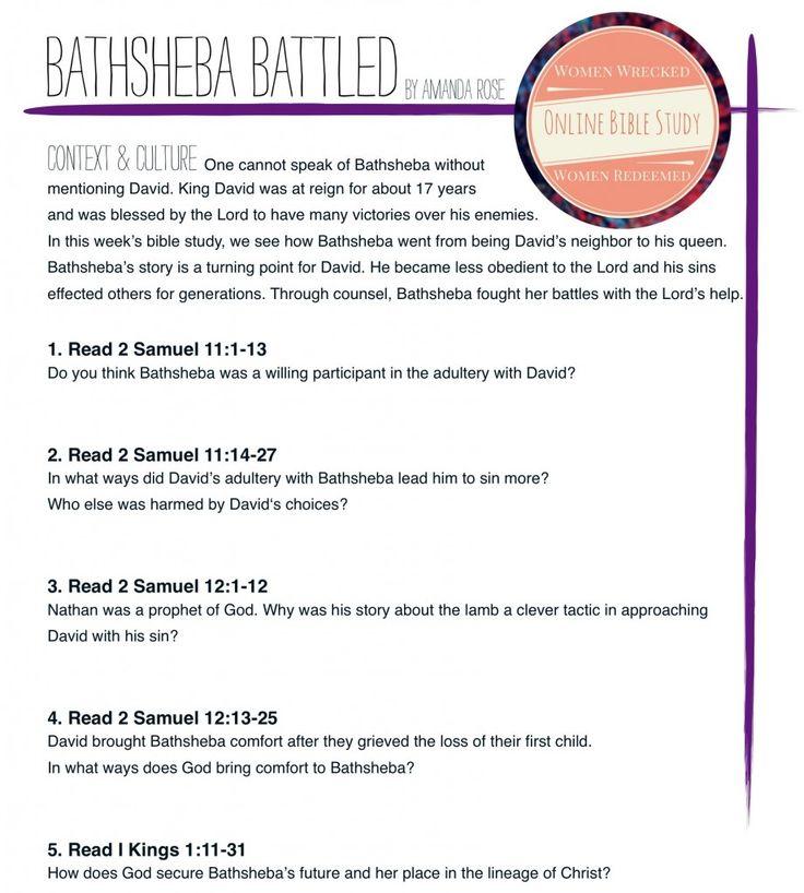David and Bathsheba - Bible Story Verses & Meaning