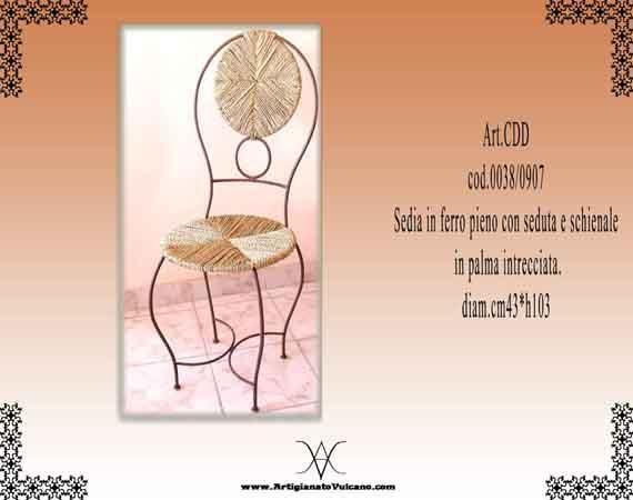 Sedia dum (Artigianato Marocco, Mobili in ferro) di Artigianato Vulcano, eCommerce specializzato nella vendita di articoli etnici, marocchini e orientali.