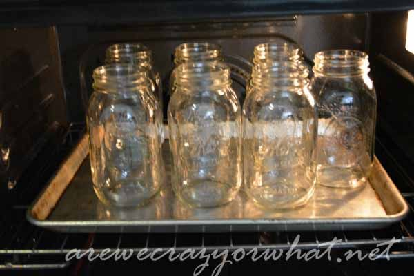 did you know you can place your clean canning jars in the oven at 350 to sterilize them for ten minutes and then turn the oven to 200 degrees to keep them warm before filling them with your hot liquid?