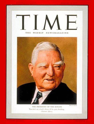 TIME Magazine Cover: John Nance Garner - Mar. 20, 1939 - John Nance Garner - Vice Presidents - Politics - Democrats