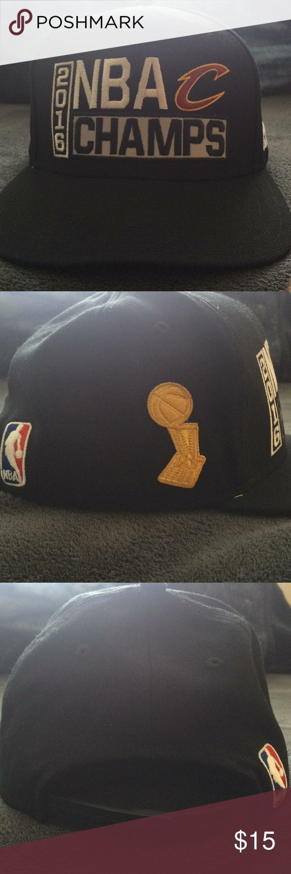 NBA Cavs 2016 Championship Hat Used, bill is slightly bent, but overall no damage. adidas Accessories Hats