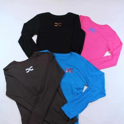 Long sleeve ts with with metallic appliqués