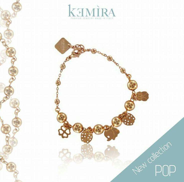 """Bracciale con charms """"Pop collection"""". Scopri le nuove collezioni su www.kemiragioielli.it  #kemiragioielli #bijoux #bracelet #bracciali #madeinitaly #jewelry #charms #donna #outfit"""