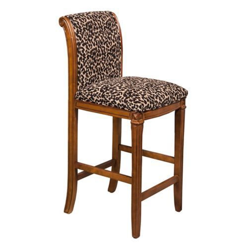 Leopard Print Bar Stool In 2019 Bar Stools Leather