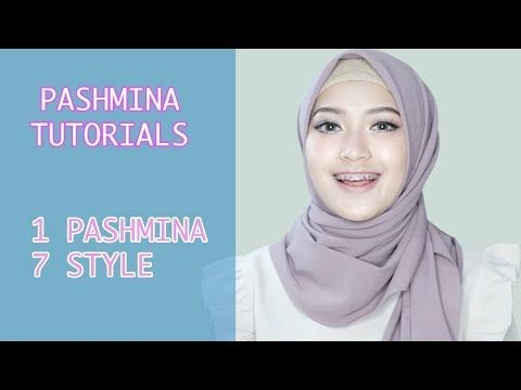 Easy Hijab Tutorials Of Pashmina Hijab With 7 Style in One Pashmina - YouTube