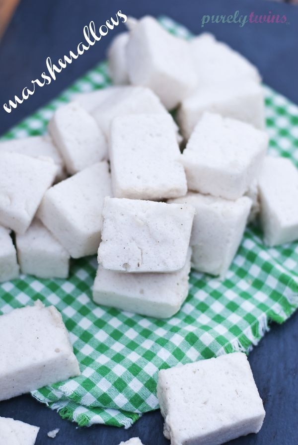 how to make {sugar-free} vanilla marshmallows. sweetened with stivia