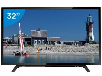 """TV LED 32"""" Toshiba 32L1500 - Conversor Digital 2 HDMI 1 USB-de R$ 1.499,00 por R$ 999,00   em até 10x de R$ 99,90 sem juros no cartão de crédito  ou R$ 949,05 à vista (5% Desc. já calculado.)"""
