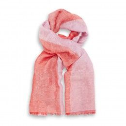 Double Thought Summer Pink Coral Stole