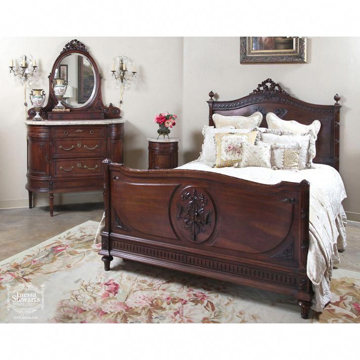 Antique French Louis Xvi Walnut Bedroom Set Online Antique Store Definitely Sweet Dream Luxury Bedroom Furniture Bedroom Vintage Bedroom Furniture Sets