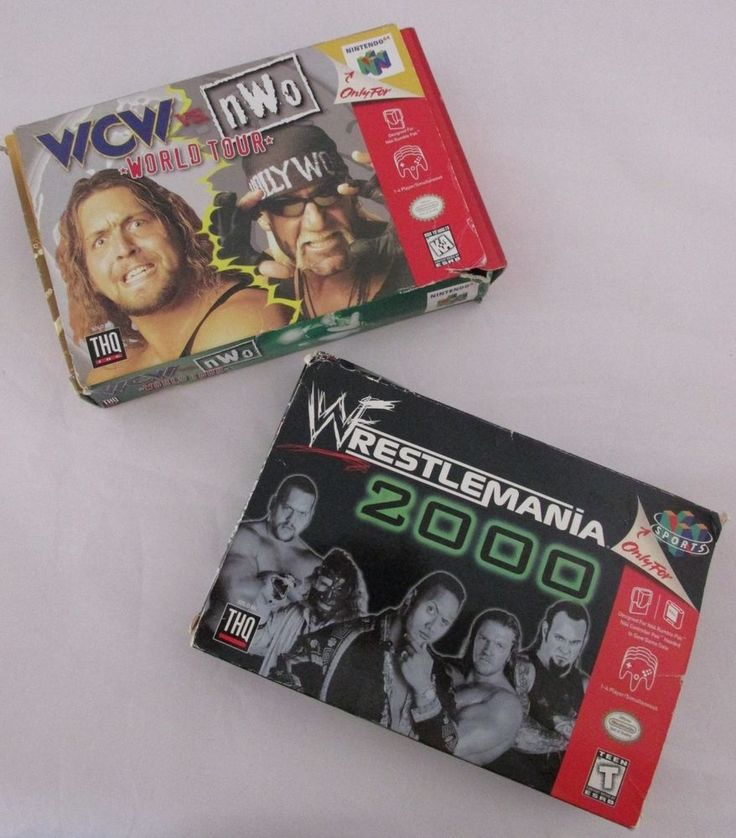 Nintendo 64 Wrestling Lot Wrestlemania 2000 & WCW vs. NWO World Tour