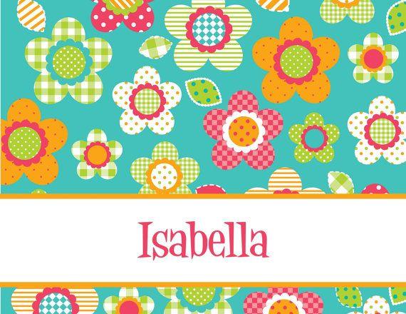 Efectos de escritorio creada para requisitos particulares con diseños audaces y brillantes. Ideal para niñas! Elija desde patrones florales brillantes, divertidas mariposas y un hermoso diseño de cuadros. Las tarjetas son 5.5 x 4.25 pulgadas cuando está plegada.  Set de 10 tarjetas dobladas incluye sobres. Las tarjetas están impresas en 100 lb liso blanco cartulina.  ** Por favor poner el nombre para la personalización en la sección de la nota de su pedido.  * Fondo de arte creado por Pixel…
