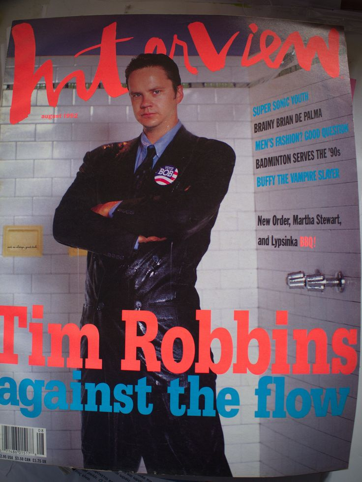 Interview Cover Tim Robbins August 1992.
