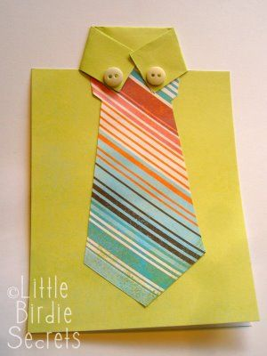 Little Birdie Secrets: last minute father's day shirt and tie card
