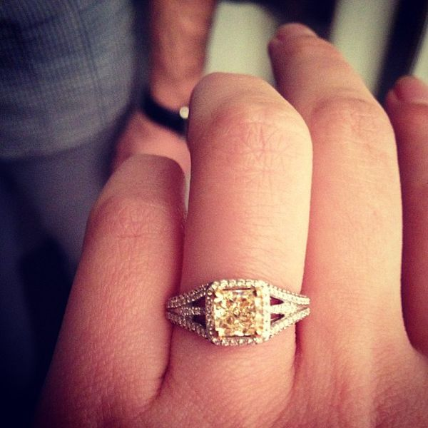 Lovely canary yellow engagement ring - WOW! #ringoftheday #martharings