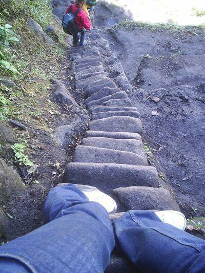 Escalera Hayna Picchu. www.deandar.com