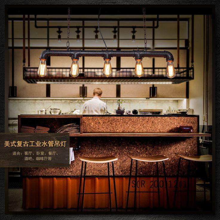 3-5-heads-Edison-vintage-bar-Lighting-counter-lamp-dinning ...