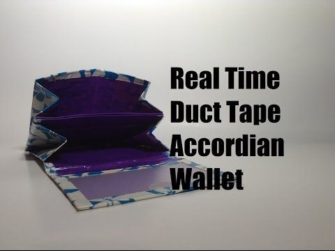 how to make a tri fold duct tape wallet